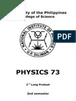 Physics 73 2nd Probset 2nd Sem 13-14