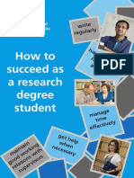 How to Succeed as a Research Degree Student