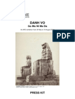 Danh Vo Paris Press Release