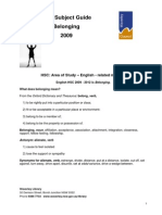 HSC Subject Guide Belonging 2009