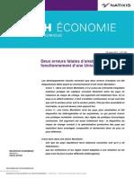 Natixis - 2 Erreurs Dans Analyse Fonctionnement Union Monetaire