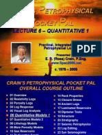 Petrophysical Pocket Pal Lecture 6
