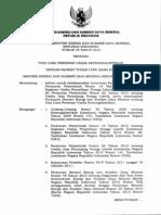 Permen ESDM 35 2013 Tentang Perizinan