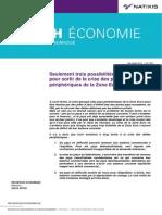Natixis - 3 possibilités pour sortir crise pays périph zone euro