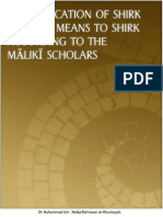 Clarification of Shirk According to the Maliki Scholars