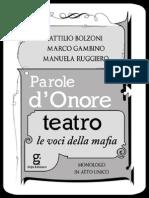 Parole d'Onore Teatro – Le voci della mafia