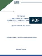 Às Urnas - A Luta pelo Voto Feminino na Península Ibérica