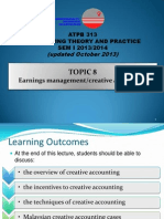 Lecture Topic 8 Earnings Management & Creative Accounting