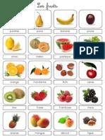 Lexique Fruits