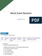 Lesson 13 Mock Exam Rev 2013-14