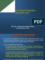 Curso de Analise Estatistica_UNIFESP_2007