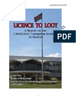 LICENCE to LOOT Malawi Cashgate Scandal Report