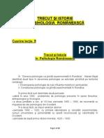 Trecut Si Istorie in Psihologia Romaneasca