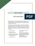 Well Test - Self learning Module - Pet Eng