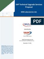 MSN SAP Technical Upgrade Proposal I1985 V8.0
