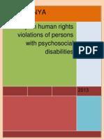 USPKENYA - Reviewed Human Rights Violation Users Mental Health Kenya Report 2013