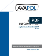 Boletín nº 15 (Septiembre-Diciembre 2013)
