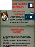 French Fashion Designer