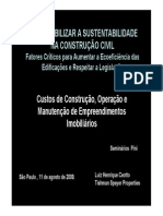 Sustentabilidade CEOTO  2009