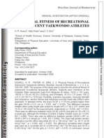 Physical Fitness of Recreational Adolescent Tkd Athletes