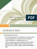 Mlti Stage Flash Distillation