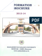 MDU Information Brochure 2013-14