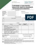 Declaratie Privind Taxa Pentru Cresterea Gradului de Liniste Si Siguranta in Derularea