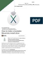 How to Make a Bootable Mavericks Install Drive | Macworld