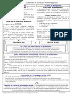 Chapitre 7 La Distinction de La Croissance Et Du Developpement Synthese