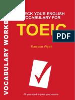 Check Your English Vocabulary for Toe i c