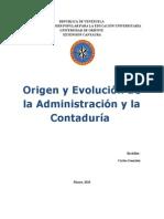 Origen y Evolucion de La Admibistracion y La Contaduria