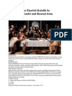 Tata Perayaan Ekaristi Katolik by Fransiskus Hendri and Resensi From Puji