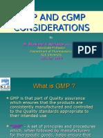 GMPANDcGMPCONSIDERATIONS