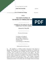 Lennox Phillip Aka Yasin Abu Bakr v the Attorney General of Trinidad n Tobago (Appeal No 30 of 2008)