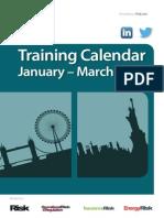 Q1 Training Calendar