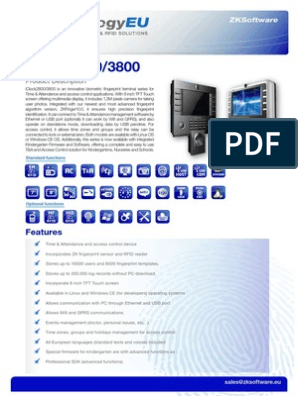 IClock-2800-3800_1 | Access Control | Usb Flash Drive