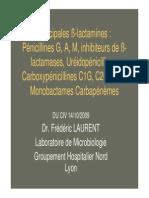 LAURENT Betalactamines 2010