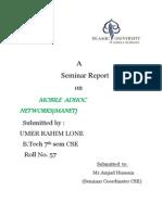 Seminar Report on Mobile Adhoc networks