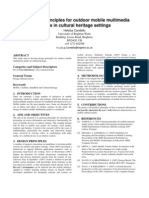 2009 Developing principles for outdoor mobile multimedia guides in cultural heritage settings