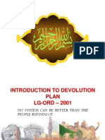 Devolution Plan