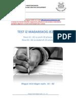 Magyar Teszt - Test Iz Madjarskog Jezika