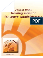 TM0451 Absence Management for Leave Administrators Training Manual Issue 2