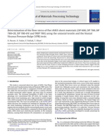 Determination of flow stress in DP steel