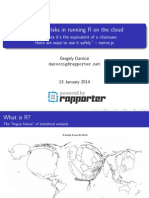 Potential risks in running R on the cloud