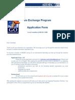 Go Exchange Programme Application Form.