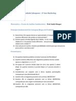Lista 3 de Matemática (PFC e Permutações Simples)