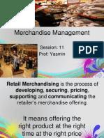 Session 11 Merchandise Management