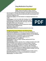 Drug Medication Prep Sheet