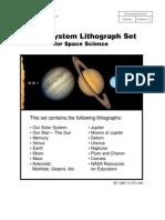 NASA Solar System Lithograph Set