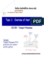 Overview of Heat Transfer
